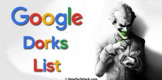 Google Dorks List
