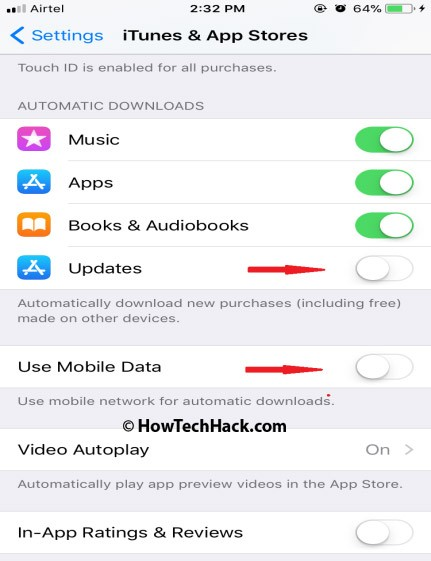 Disable Automatic Downloads