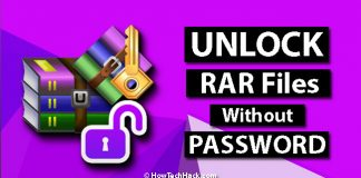 How To Open Password Protected RAR Files Without Password